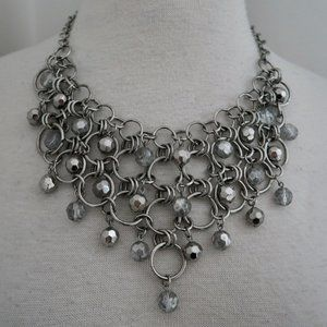 COOKIE LEE interlocking rings Bib necklace